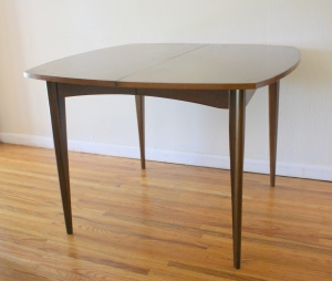 mcm square surfboard dining table with ext leaf 2