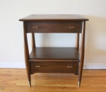 Mid century modern side table by Rway: $275