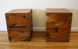 industrial cube end tables