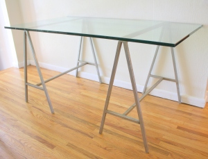 industrial table glass top 1