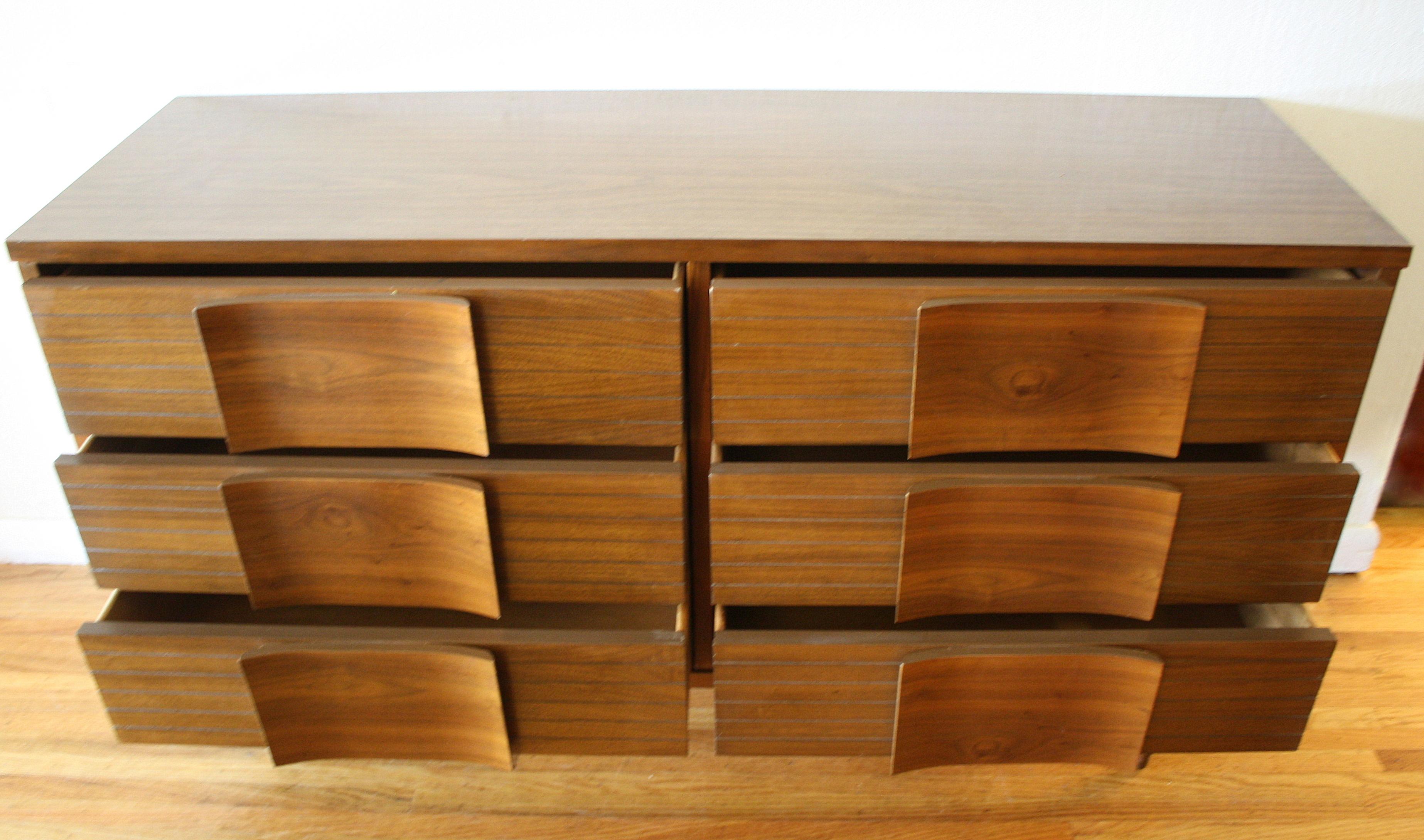 Mid Century Modern Johnson Carper Low Dresser Credenza And