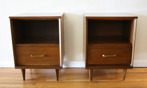 Mid Century Modern Tall Dresser Low Dresser Credenza And