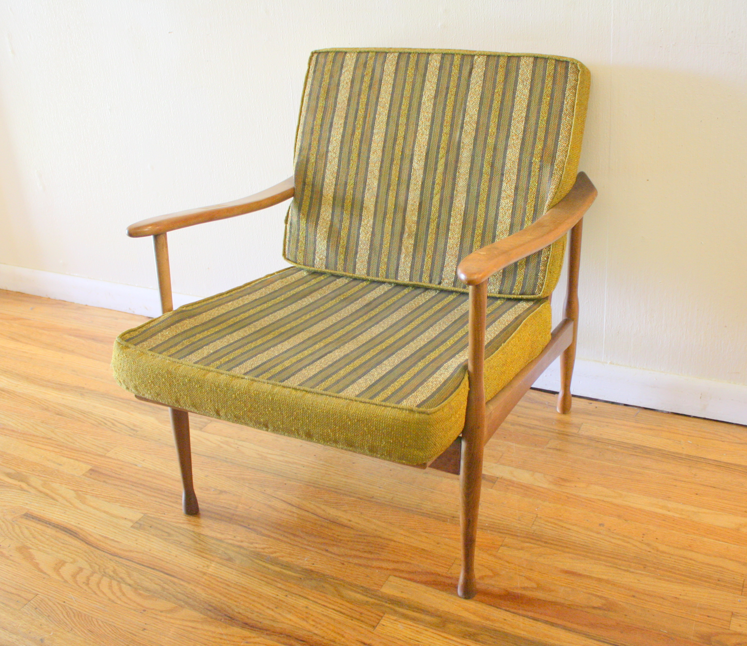 mid century modern danish arm lounge chair picked vintage