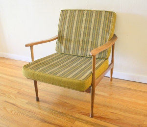mcm green lounge chair 1