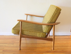 mcm green lounge chair 2