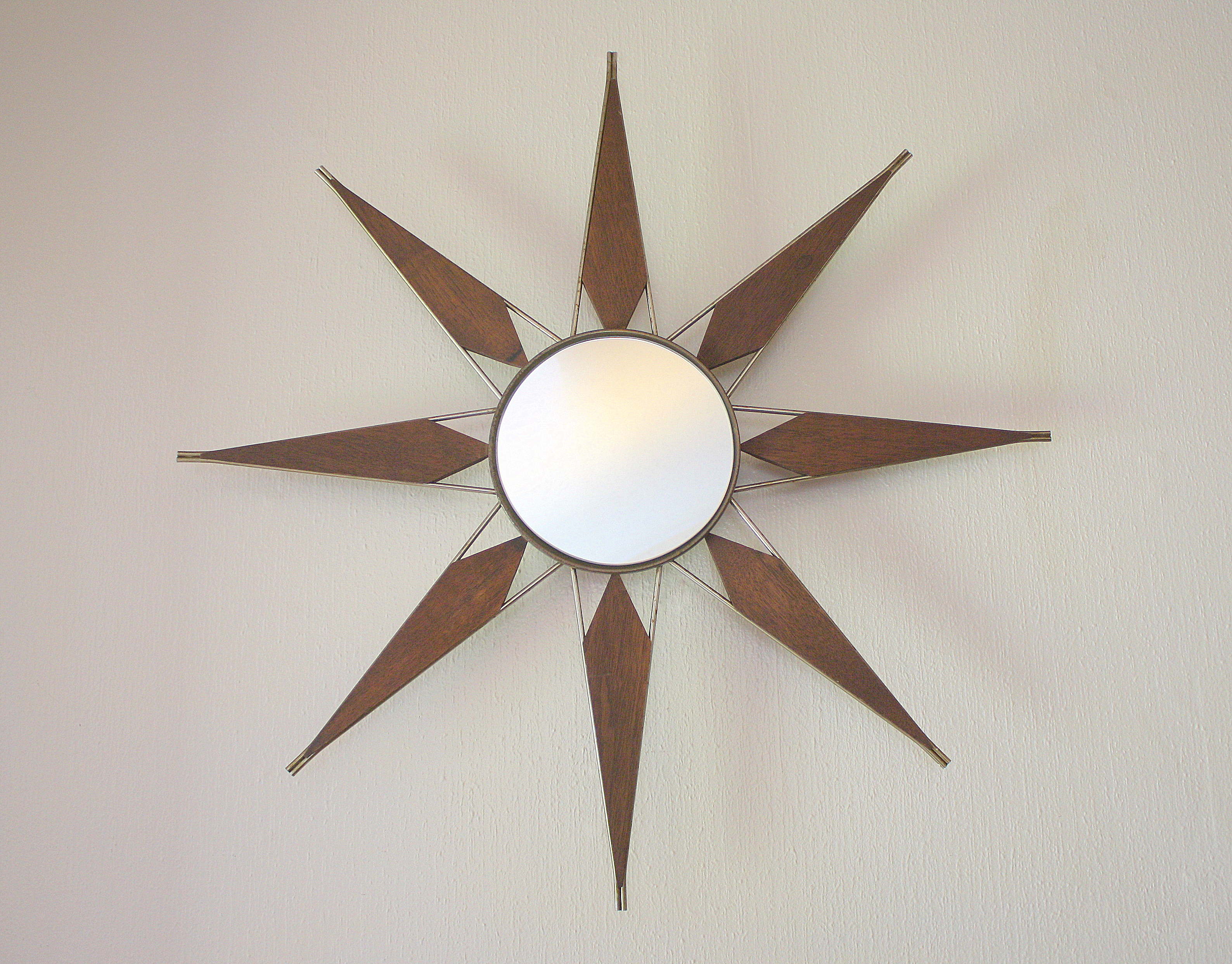 Mid Century Modern Sunburst Mirror Picked Vintage : mcm starburst mirror 1 from pickedvintage.com size 3176 x 2486 jpeg 6012kB