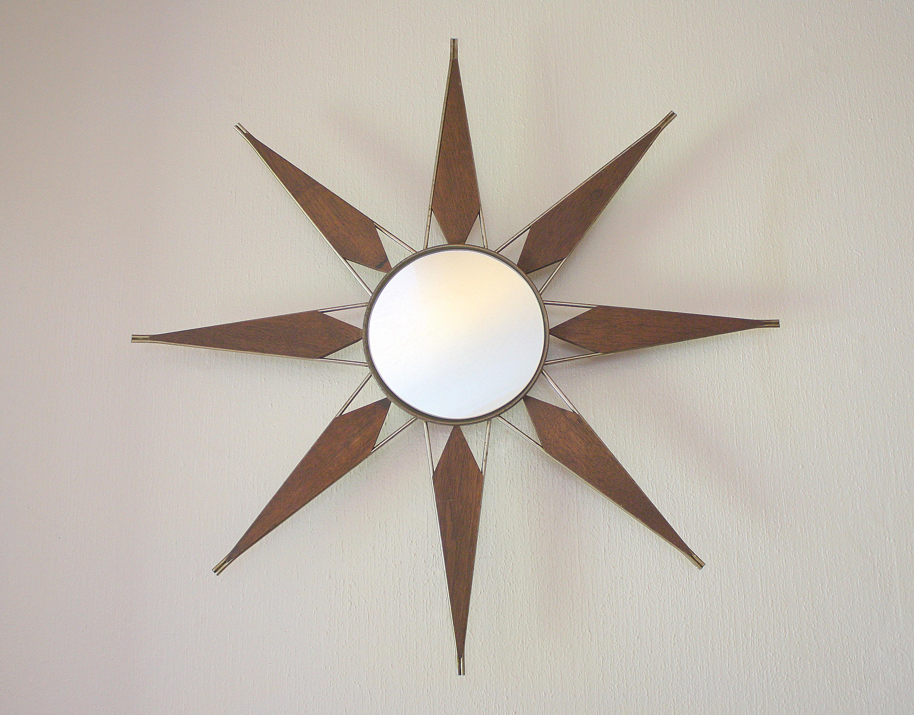 Mid Century Modern Sunburst Mirror Picked Vintage : mcm starburst mirror 1 from pickedvintage.com size 3176 x 2486 jpeg 6012kB