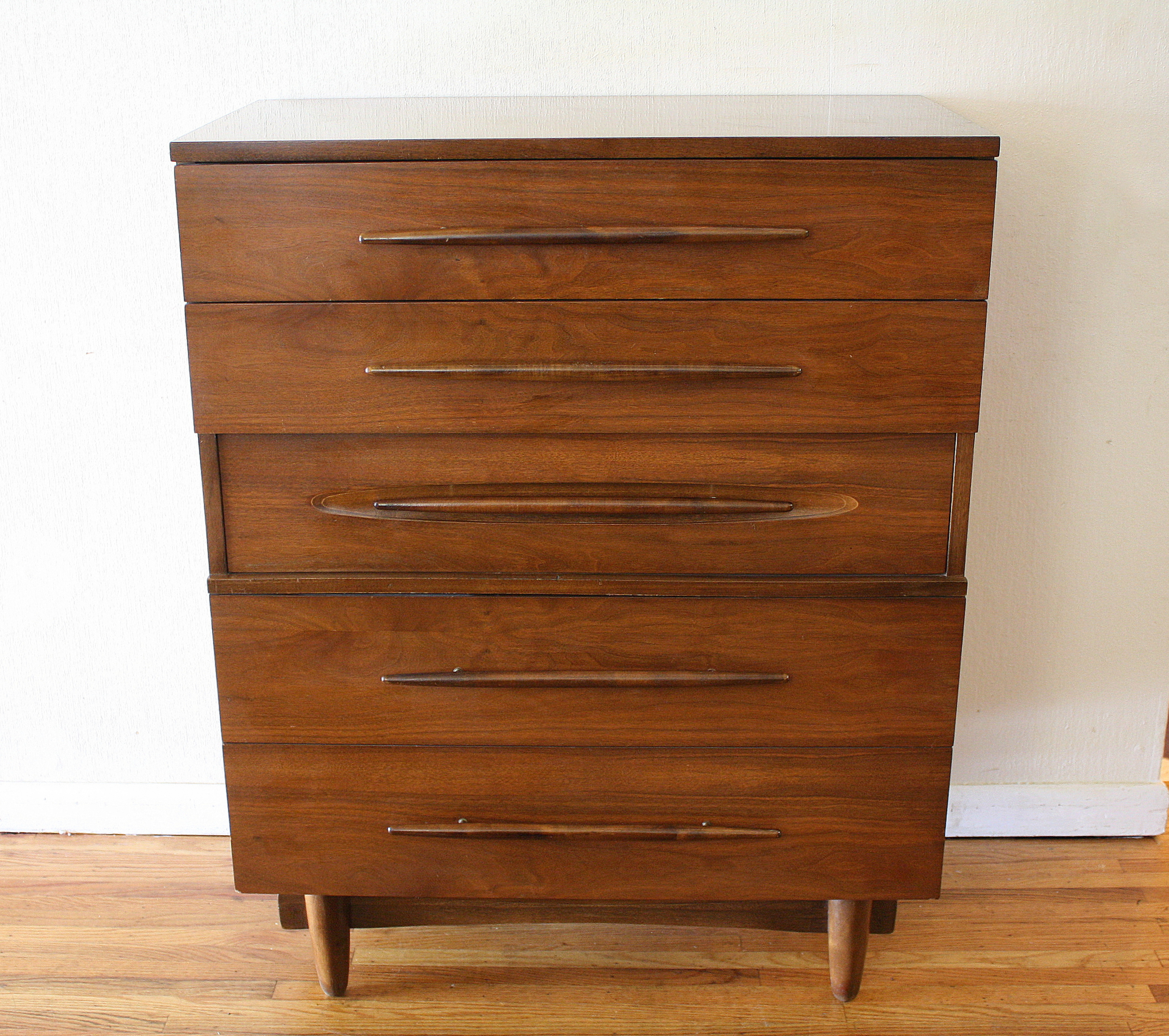 Harmony Furniture: Mid Century Modern Tall And Low Dresser Credenza By