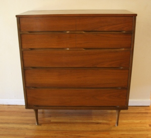 mcm 5 drawer tall dresser 1
