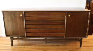 mcm credenza with streamlined drawers 1