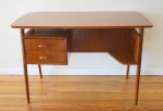 mcm desk with front bookshelf 1