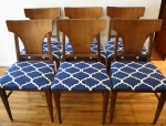 mcm dining chairs 6 set 1