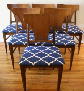 mcm dining chairs 6 set 2