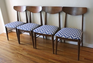 mcm dining chairs geometric pattern 1