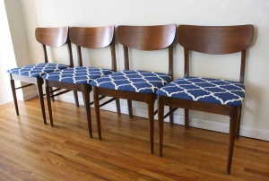 mcm low frame dining chairs blue seats 1