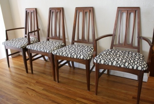 mcm sculpted geometric back dining chairs 1