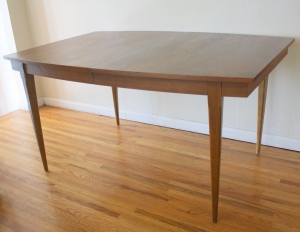 surfboard dining table tapered legs 1