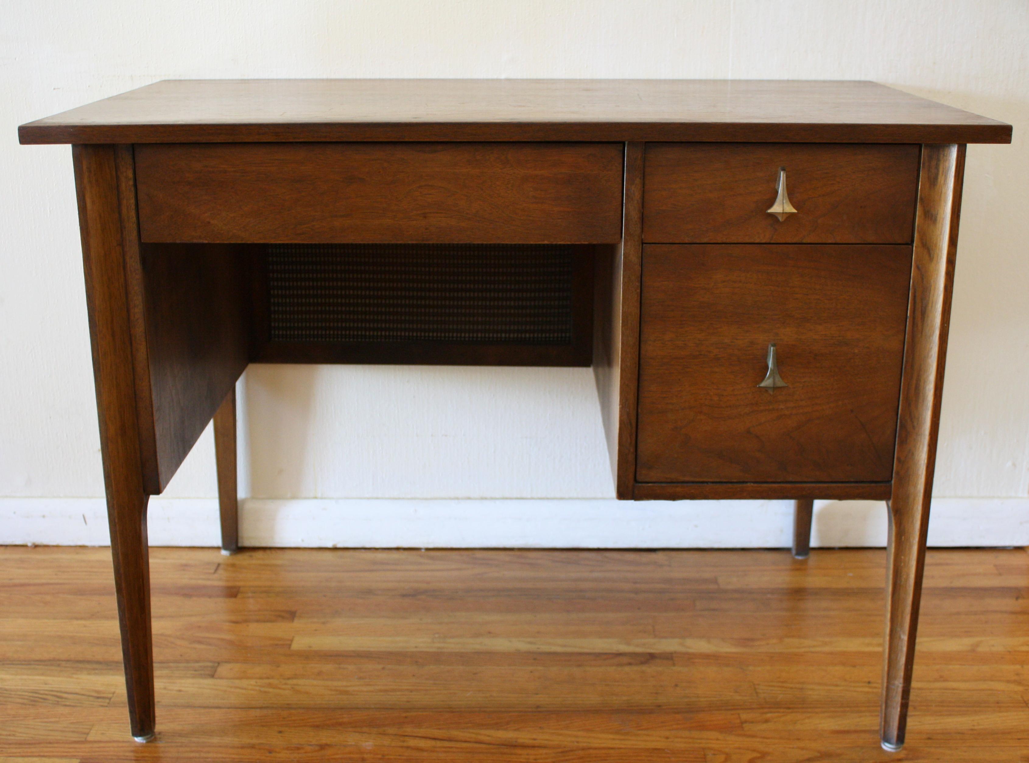 Broyhill Brasilia Mid Century Modern Desk Picked Vintage