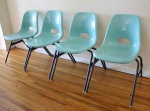 fiberglass turquoise chairs 1