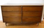Mid century modern 6 drawer low dresser credenza: $495