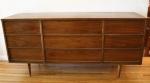 Mid century modern 9 drawer low dresser