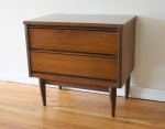 mcm end table streamlined drawers 1