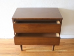 mcm end table streamlined drawers 3