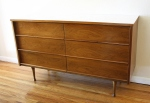 mcm mod white top low dresser credenza 2