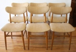 mcm set of 6 upholstered dining chairs 2