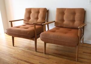 mid century modern Baumritter chairs 1