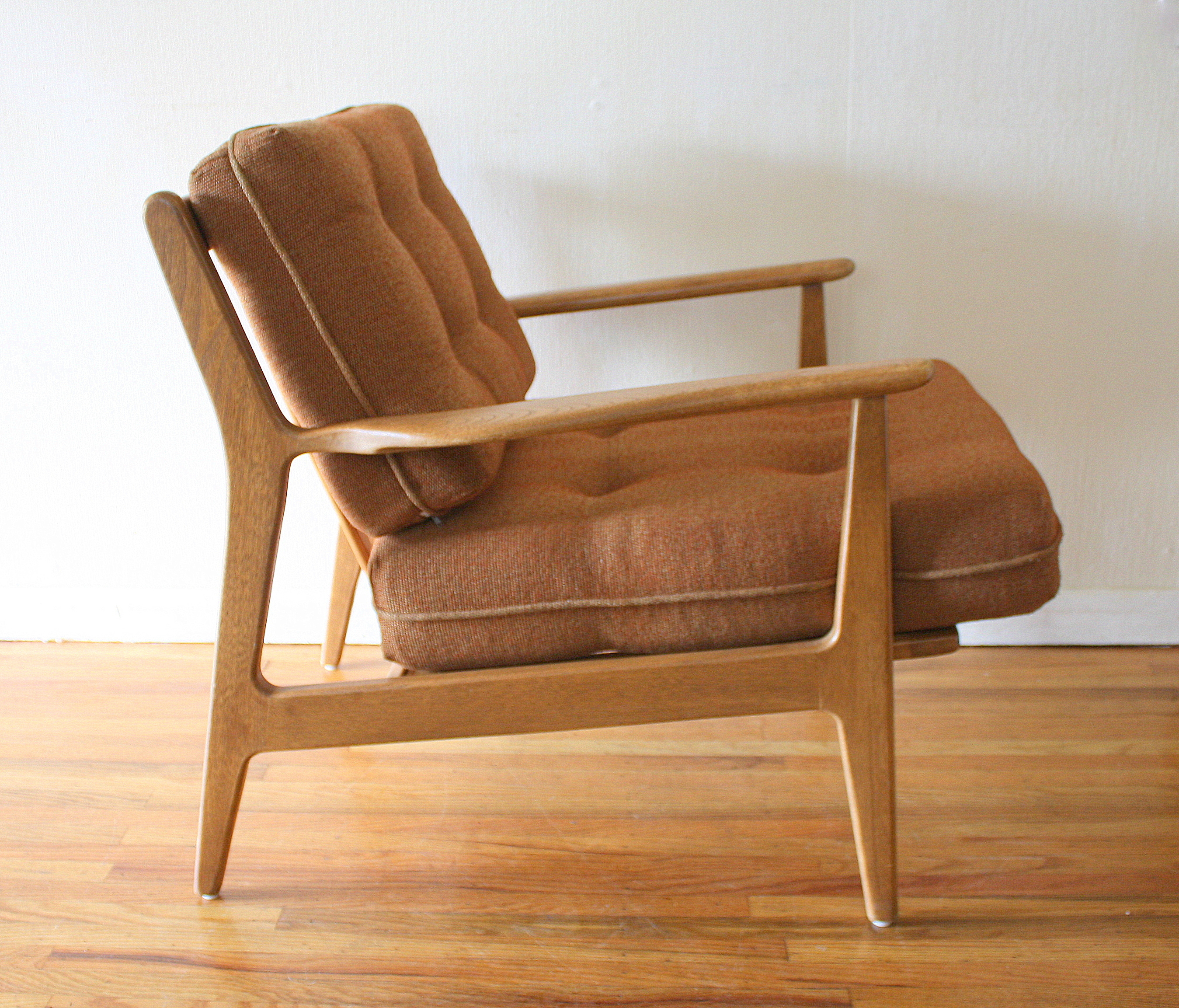 Modern wood chair with arms - Mid Century Modern Baumritter Chairs 2
