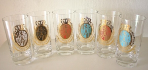 mcm coat of arms tall glasses 1