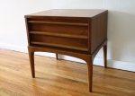 mcm side end table Lane streamlined drawers 1