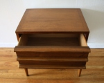 mcm side end table Lane streamlined drawers 3
