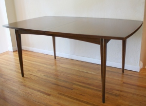mcm surfboard dining table 2 ext leaves 1