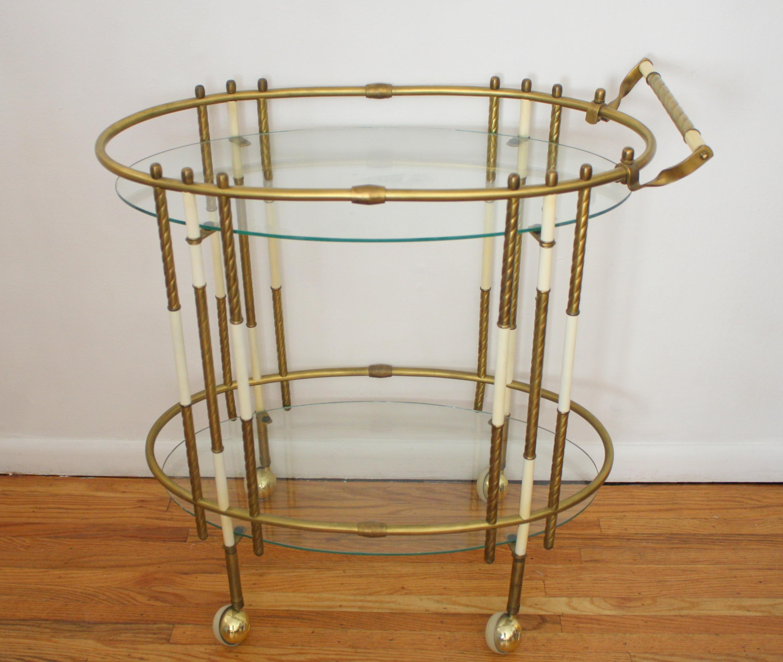 hollywood regency bar cart 1
