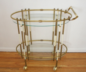 hollywood regency bar cart 1