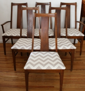 mcm chevron dining chairs set of 6