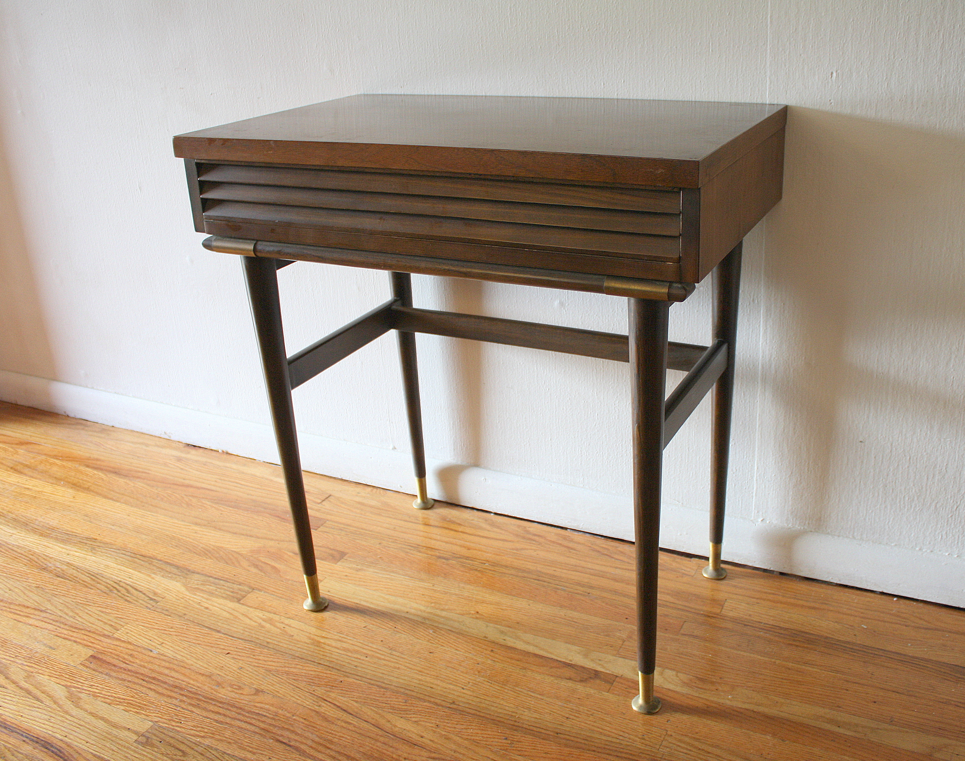 Mcm Louvered Console Vanity Table 1