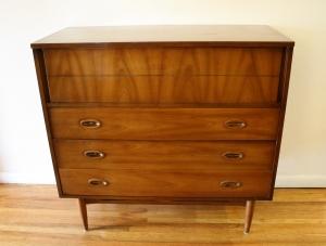 mcm tall dresser wood handles 1