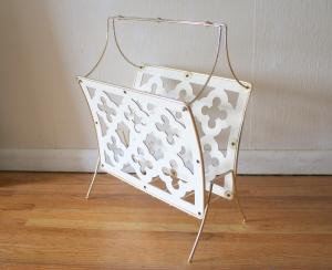 mcm white cutout magazine rack 1