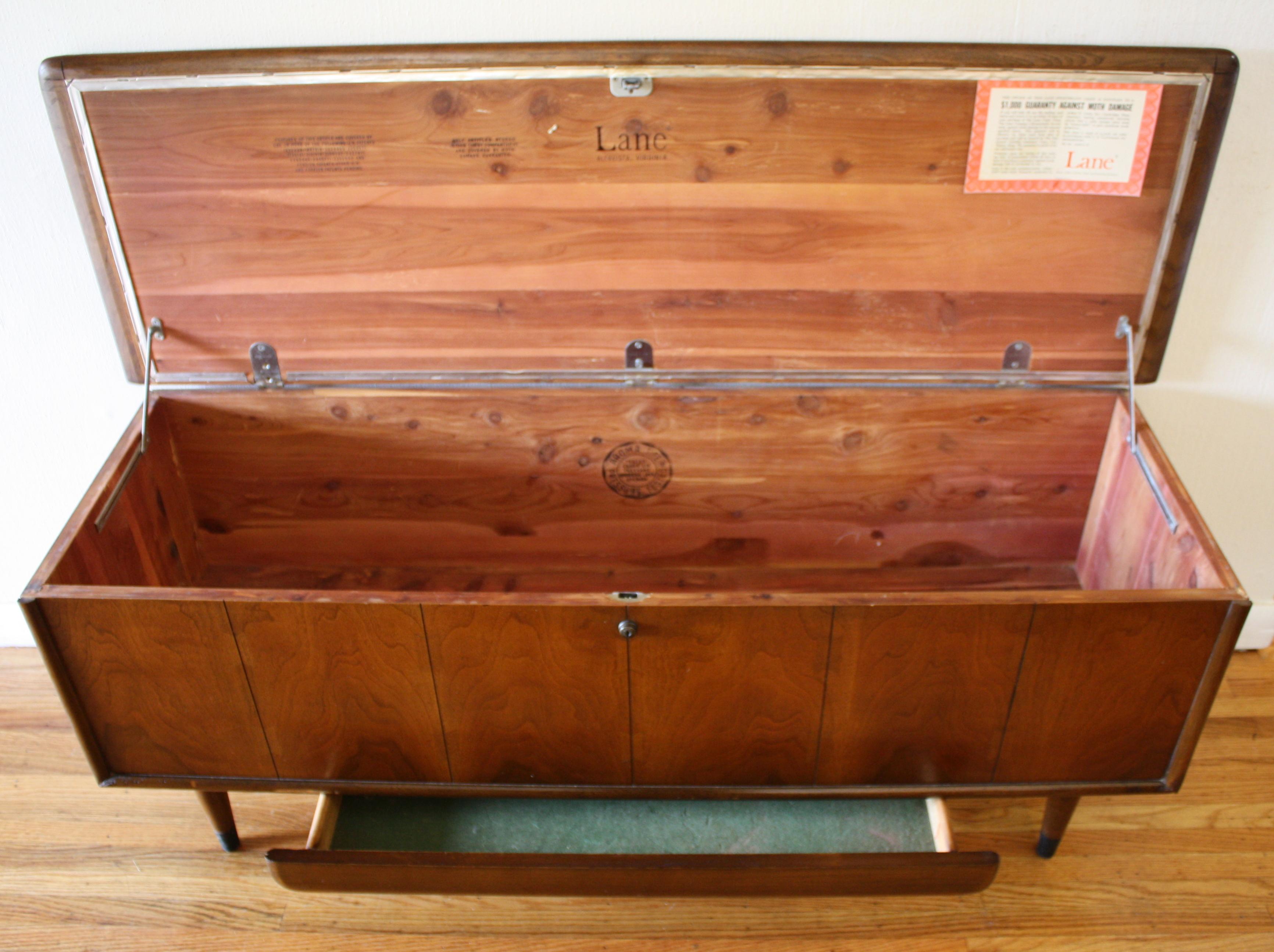Mid Century Modern Lane Cedar Chest Trunk Picked Vintage