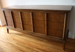 mcm Dixie low dresser with streamlined drawers handles 3