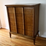 mcm Dixie tall dresser with streamlined drawers handles 4