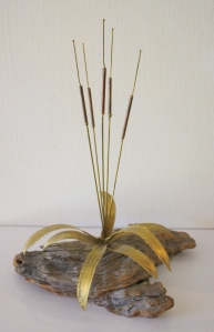 Brutalist river reed sculpture small 1