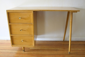 mcm blonde splayed leg desk 1
