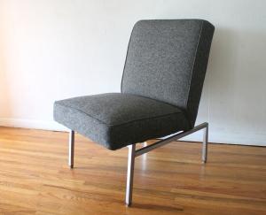 mcm charcoal lounge chair 1