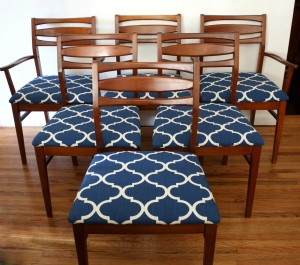 mcm dining chair set of 6 horizontal slat backs 1