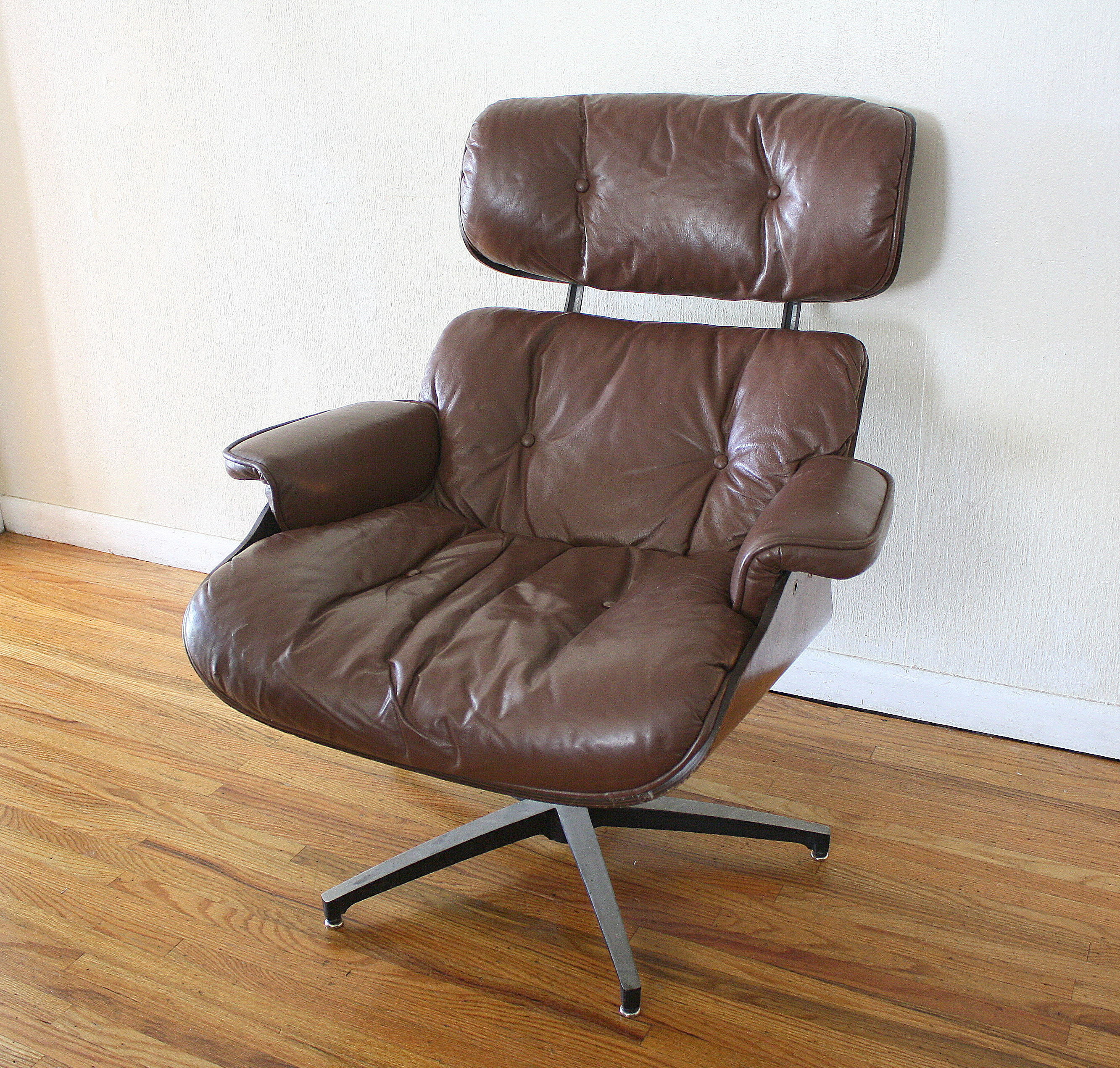 mcm eames dark brown chair 1