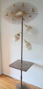 mcm floor bullet lamp tile inlaid table 1